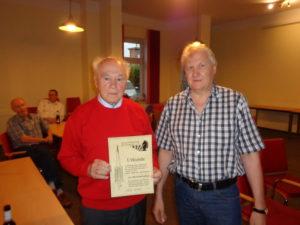 Ehrenmitglied Hans-Werner Krawinkel mit dem 1. Vorsitzenden Ralf Schöngart